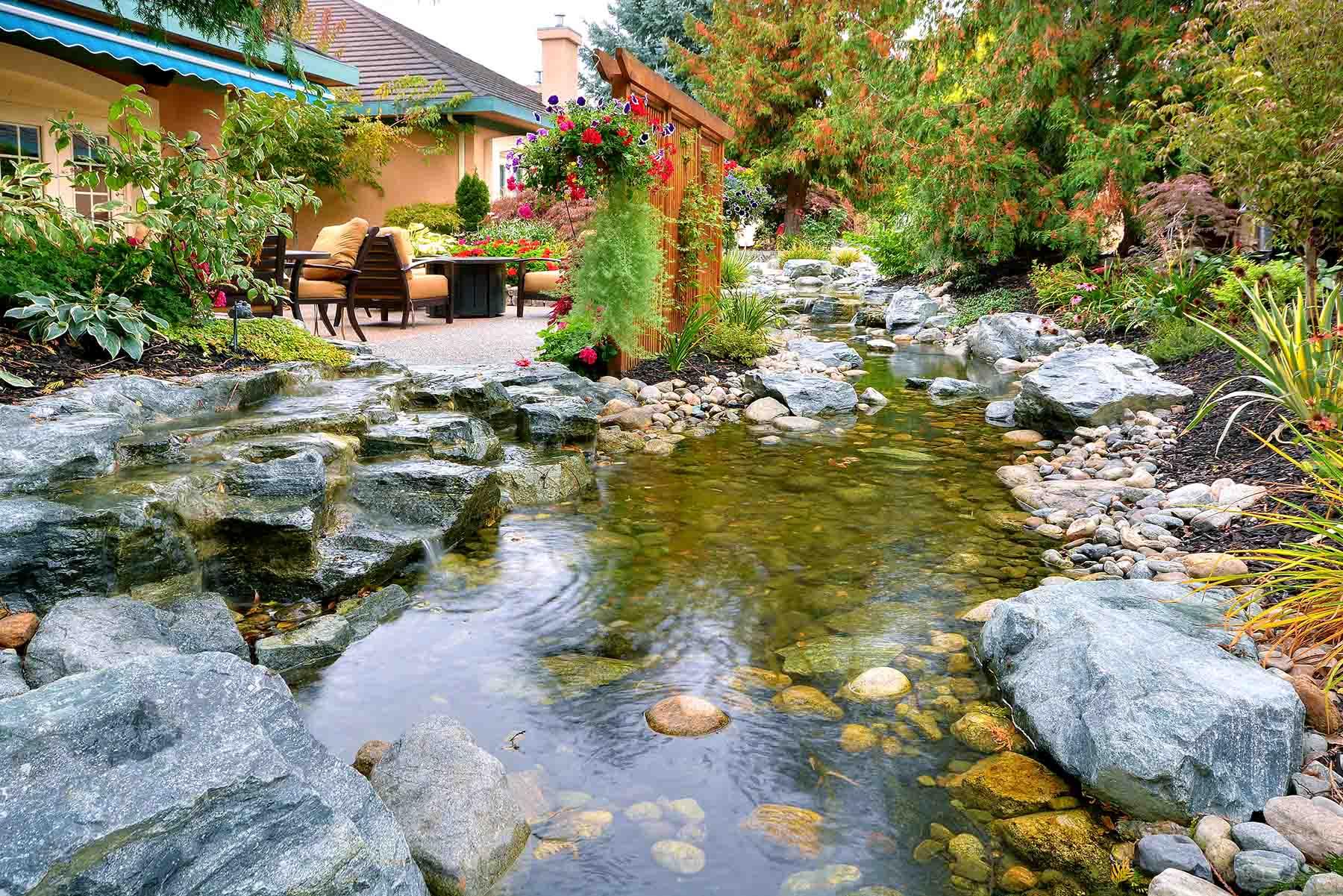 Kelowna residential landscaping about aqua gardens for Koi pond kelowna